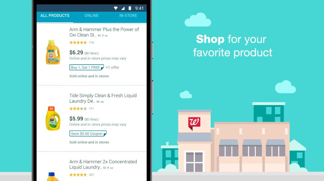 Walgreens app screen